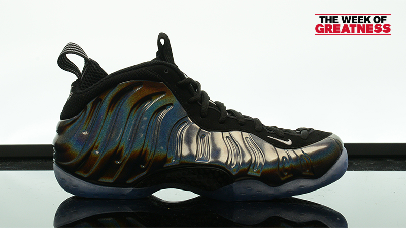 "26d676fe0e91f Week Of Greatness  Nike Air Foamposite One ""Hologram"" – Foot Locker Blog"