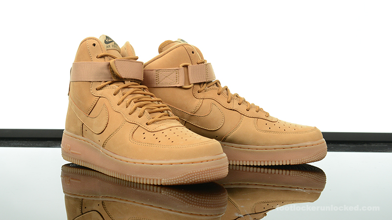 buy online 64f41 2cd21 Foot-Locker-Nike-Air-Force-1-High-Wheat-