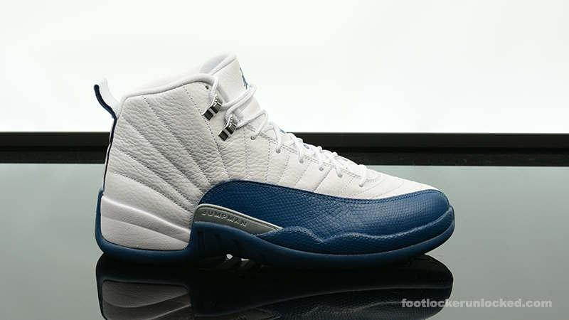 uk availability 28c23 22322 Foot-Locker-Air-Jordan-12-Retro-French-Blue- ...