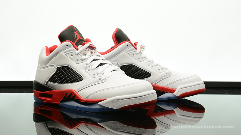 "0f0a5496f3e3 Air Jordan 5 Retro Low ""Fire Red"" – Foot Locker Blog"