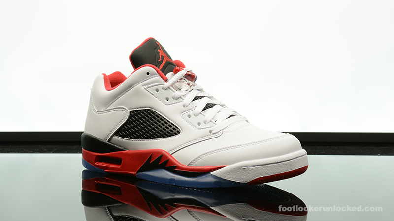 "27a65350367eb9 Air Jordan 5 Retro Low ""Fire Red"" – Foot Locker Blog"
