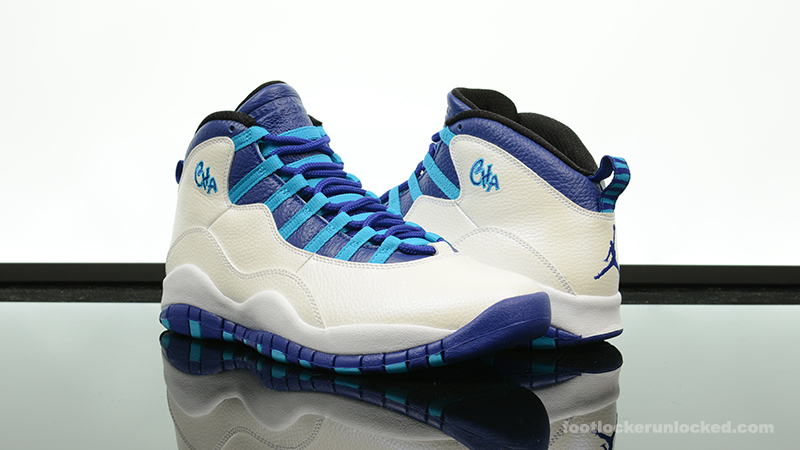 "finest selection 5df72 b1f1f Air Jordan 10 Retro ""Charlotte"" – Foot Locker Blog"