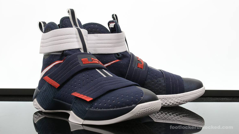 "check out 833a0 a322a Nike LeBron Zoom Soldier 10 ""Red, White & Blue"" – Foot ..."
