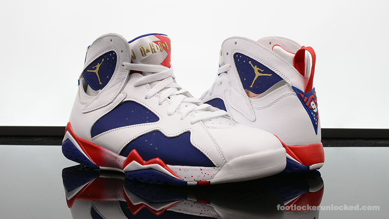 "best loved 4a630 cdb01 Air Jordan 7 Retro ""Red, White & Blue"" – Foot Locker Blog"