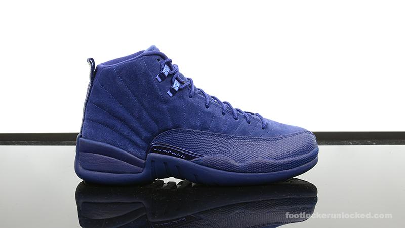 "Air Jordan 12 Retro ""Blue Suede"" – Foot"