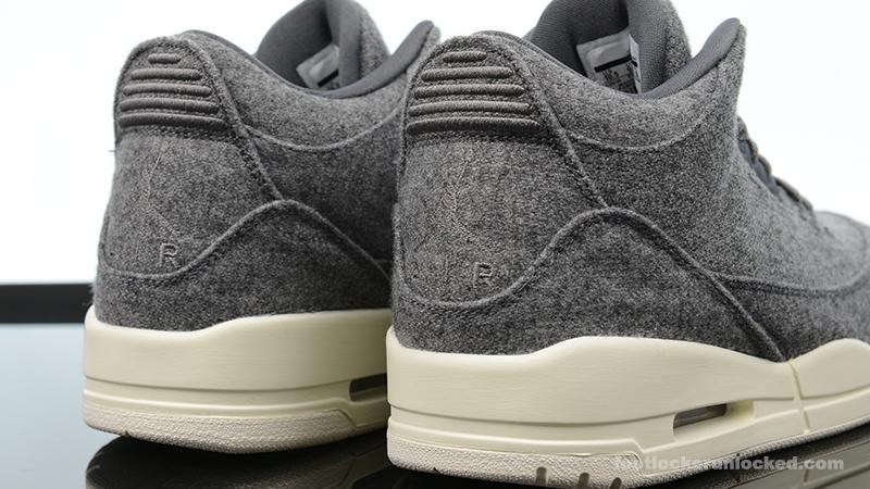 jordan 3 wool on feet